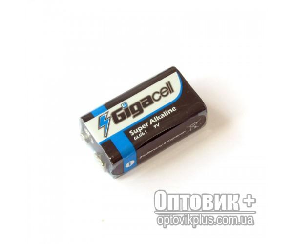 Батарейка Gigacell 6LR61 щелочная 9V (крона)