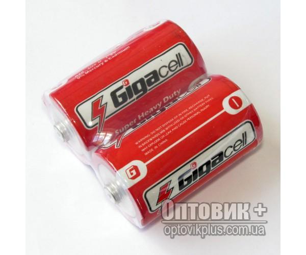 Батарейка Gigacell R20 PVC солевая 1.5V D