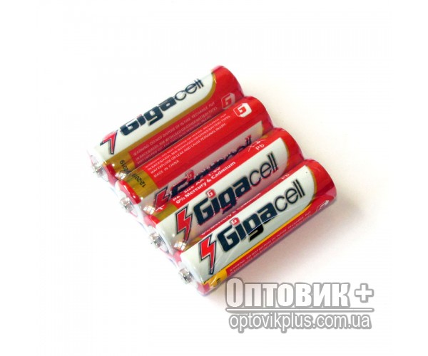 Батарейка Gigacell R6 PVC солевая 1.5V AA