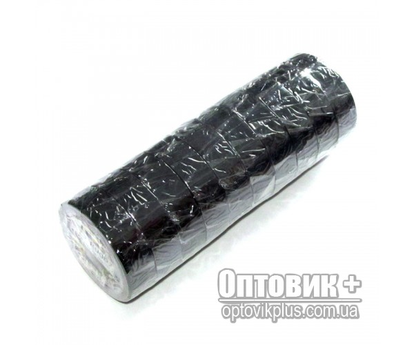 Изолента ПВХ RUGBY 10м чёрная (упаковка 10 шт)