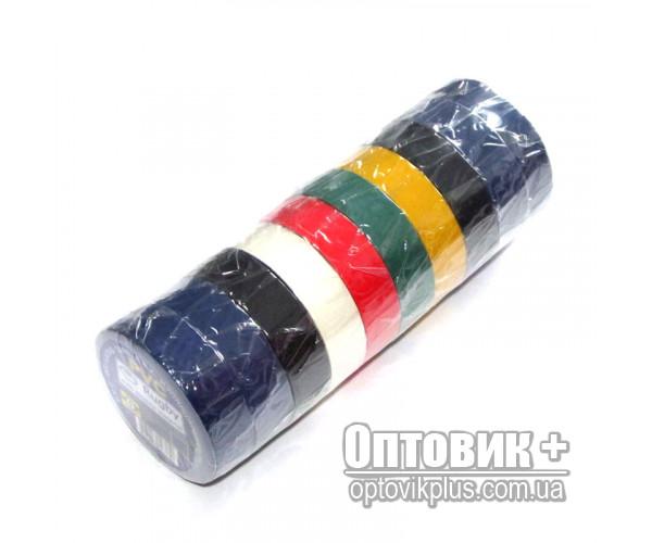 Изолента ПВХ RUGBY 10м цветная ассорти (упаковка 10 шт)
