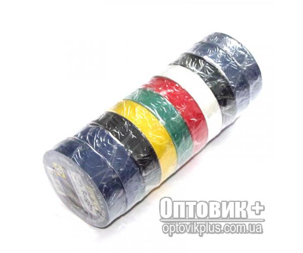 Изолента ПВХ RUGBY 20м цветная ассорти (упаковка 10 шт)