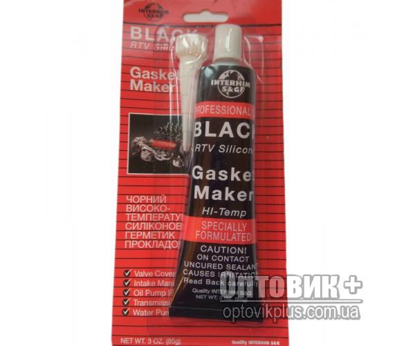 Герметик силиконовый жаростойкий «Интерхим» 85г (чёрный)