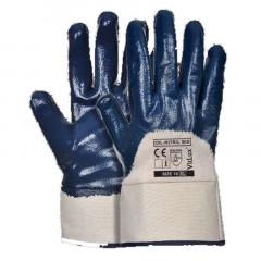 Перчатки масло-бензостойкие, манжет крага (синие)