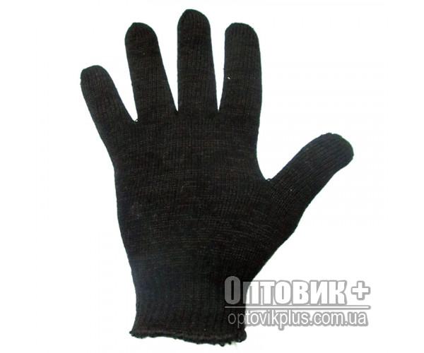 Перчатки вязанные двухслойные чёрные