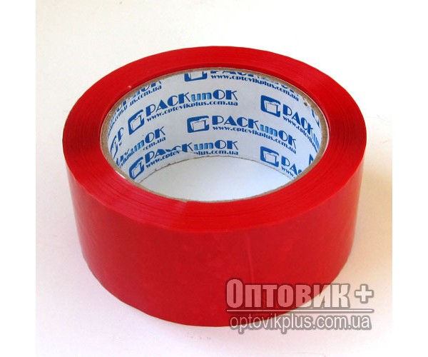 Скотч упаковочный цветной 200 (красный)